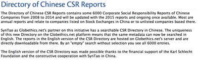 Chinese CSR Report