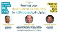 RESERVEZ LA DATE: Première conférence mondiale des membres de FaithInvest – 8 et 9 juin